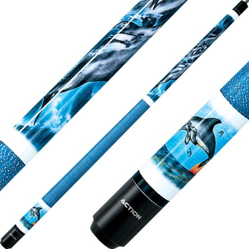 Dolphin Pool Cue - Action Cues - Dolphin-includes Case -19 oz