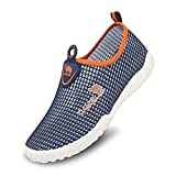 Camel Mens Slip On Sneakers Casual Shoes Breathable Mesh Low Top Lightweight Sneakers for Women Walking Unisex Shoes for Couples Size 8,Blue/Orange