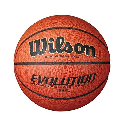 Wilson Evolution Intermediate Size Game Basketball, Brown WTB0586