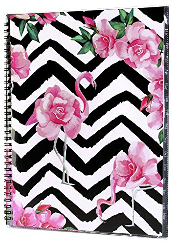 2019 Monthly Planner - January 2019- March 2020 Monthly Planner with Tab Stickers, Contacts and Passwords Pages, Thick Paper, Twin-Wire Binding with Clear Flexible Cover, 8.5