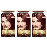 L'Oréal Paris Superior Preference Permanent Hair Color, 4R Dark Auburn, 3 Count