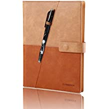 Elfinbook Smart Notebook 3.0, Cloud Storage, Evernote Storage, Mind Map, Reusable Notebook, Pilot FriXion Pen,110 Pages A5, 5.8 x 8.6-inch,Gentle Brown