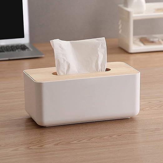 Caja de pañuelos de bambú, de madera natural, rectangular, con ...