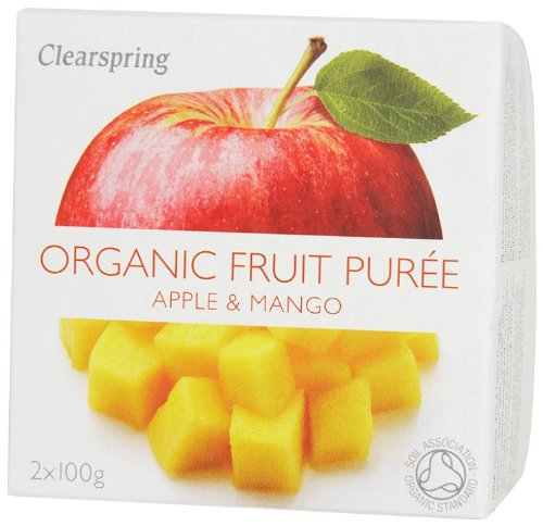 Clearspring Organic Apple and Mango Fruit Puree 2 X 100 g (Pack of 12) by Clearspring