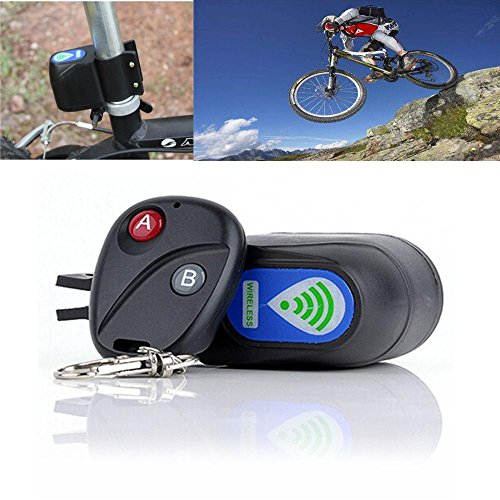 Amapower Hot Shock Vibration Sensor Cycling Anti-Theft Alarm Security Alerter Wireless Remote Control Bike Lock