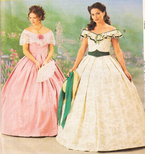 McCalls 3597 Misses Gone With Wind Southern Belle Dress Sewing Pattern 4-10