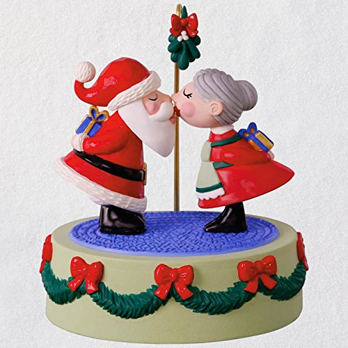 Hallmark Keepsake Christmas Ornament 2018 Year Dated, Kissing Clauses With Music and Motion ()