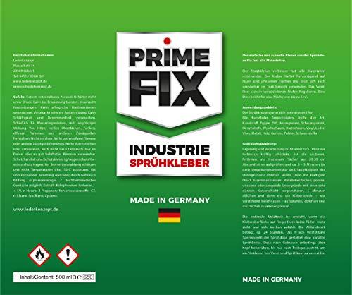 51TvDBdh ML 3 x Prime FIX Sprühkleber - Industriekleber - extra stark 500ml