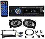 Digital Media Receiver/Radio+Front Speakers+Wire For 1997-02 JEEP WRANGLER TJ