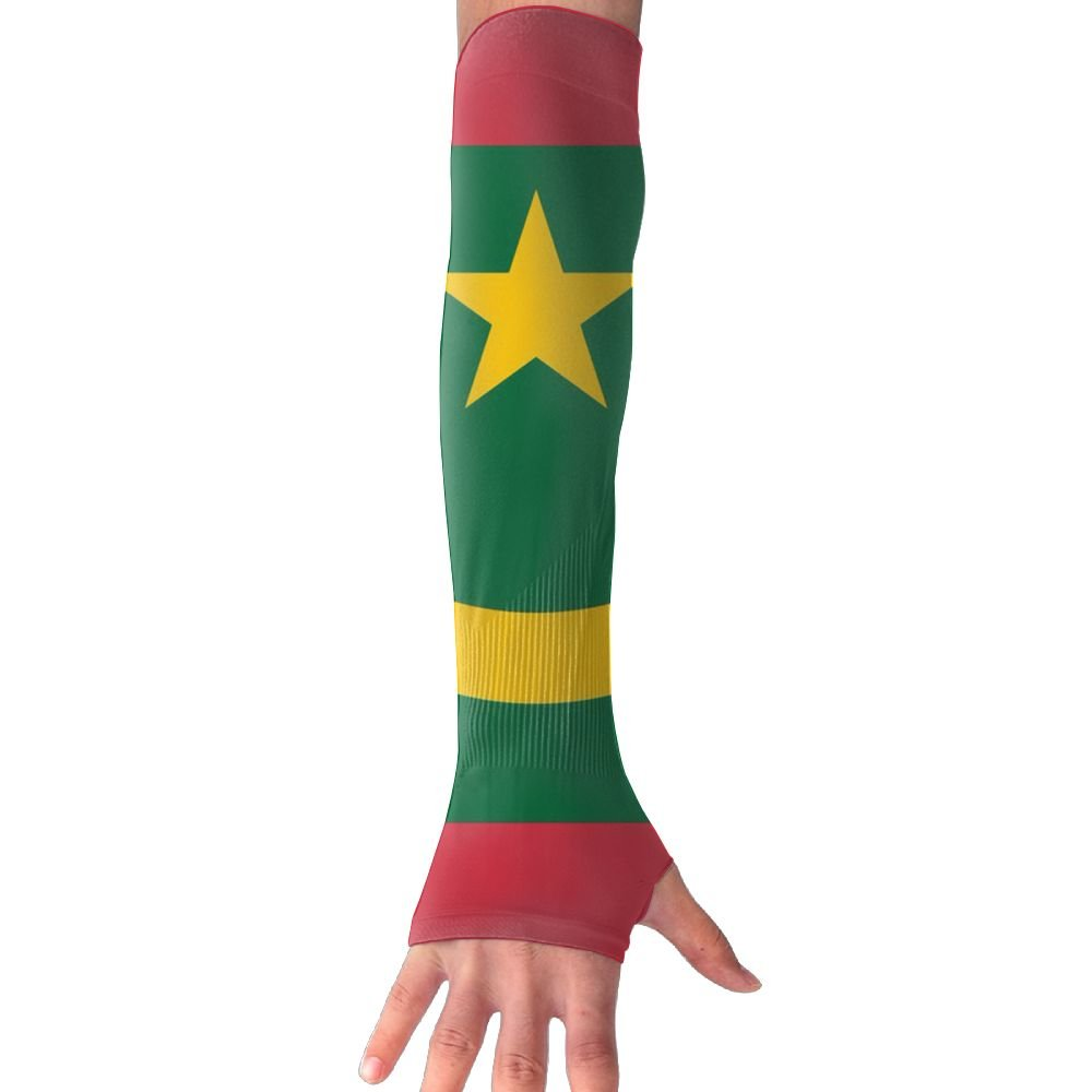 NUNOFOG Mauritania Flag Unisex Summer Arm Cover Sleeves Long Fingerless Sun-proof Anti-UV Long Gloves For Outdoor
