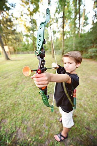 51TvDkgmKtL - Sunny Days Entertainment Maxx Action Hunting Series Toy Archery Bow & Arrow Set with Target and Accessories
