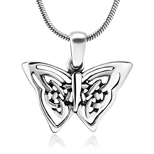 Oxidized Sterling Butterfly Pendant Necklace product image
