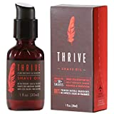 Thrive Natural Shave Oil for Men - Replaces Pre-Shave Oils, Shaving Creams, Gels, and Foams; Made with Organic and Unique Premium Natural Ingredients for Healthier Skin - 30ml /1 oz
