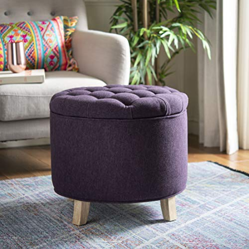 Safavieh Hudson Collection Amelia Tufted Storage Ottoman, Plum