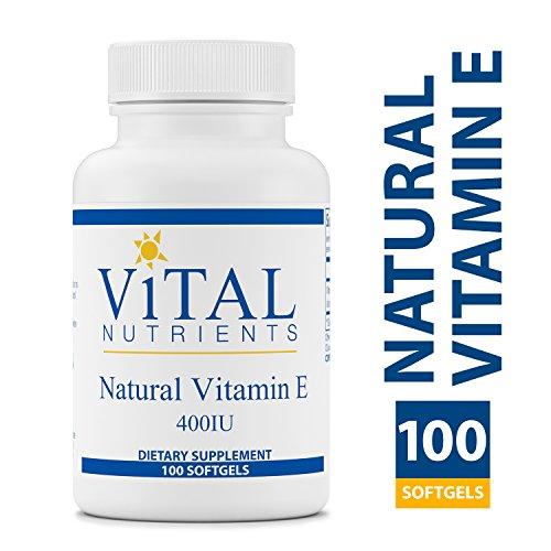 Vital Nutrients - Natural Vitamin E 400 IU - Potent Antioxidant & Cardiovascular Support - 100 Softgels per Bottle