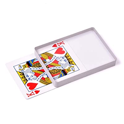 SUMAG Deck Glass Card Omni Deck Ice Bound (Poker size)Magic Tricks, Cards magic Props, Close-up Magic Accessories, Magic Gimmick Signed Card to Top of Deck Magic: Toys & Games