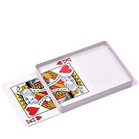 Doowops Deck Glass Card Omni Deck Ice Bound (Poker Size) Magic Tricks, Cards Magic Props, Close-up Magic Accessories, Magic Gimmick Signed Card to Top of Deck Magic