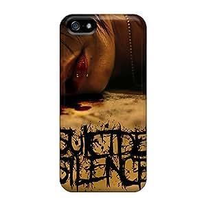 NataliaKrause Iphone 5/5s Shock-Absorbing Hard Phone Cases Custom Nice Suicide Silence Pattern [alP11647MkTo]