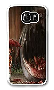 VUTTOO Rugged Samsung Galaxy S6 Case, Monster And Girl Illustration Hard Clear Case Cover Protector for Samsung Galaxy S6