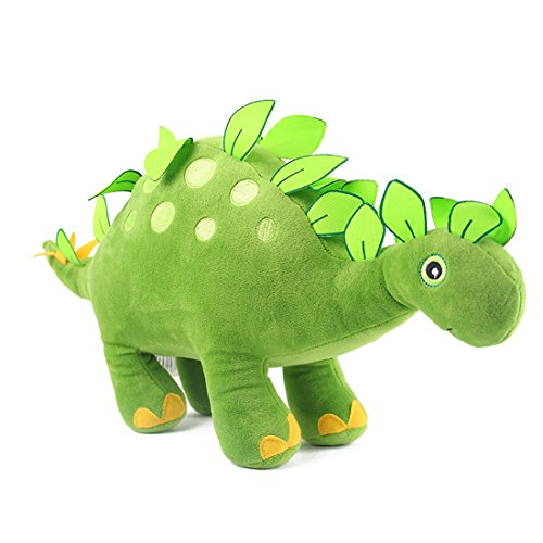 HugeHug Jurassic Dinosaur Plush Stuffed Toy for Kids 15 inches, for Boys Girls Birthday Gifts (Stegosaurus)]()