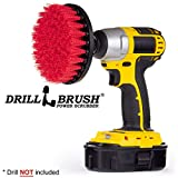 Drill Brush - Deck Scrub Brush - Bird Bath - Garden Statues - Clean and Remove Algae, Mold, Lichens, Mildew, Moss, Oxidation - Granite, Marble Cleaner - Outdoor Fountains - Headstones, and Monuments