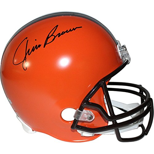 Jim Brown Signed Cleveland Browns Full Size Replica Helmet (Fanatic Holo & SSM Auth) ()