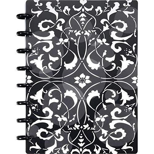 Staples Arc Customizable Flower Circle Design Notebook System, Black & White, 6-3/8' x - Circles White Simply