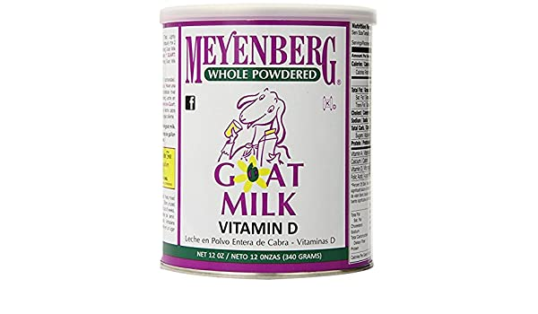 Amazon.com : Meyenberg Whole Powdered Goat Milk, Vitamin D, 12 Ounce (Pack of 8) : Grocery & Gourmet Food