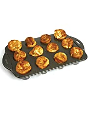 Norpro 3971 Nonstick 12 Mini Linking Popover Pan