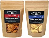 Bunker Hill Crunchy Cheese Crisps 100% Cheese High Protein, Gluten Free, Low Carb, Keto Snacks 2 Ounce Bag – Cheddar and Parmesan 2 Pack Review