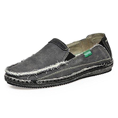 Scarpe di Traspiranti Grigio Che Scarpe da Cowboy Tela estive Scarpe lavano Liuxiaoqing da Uomo fzwTwq