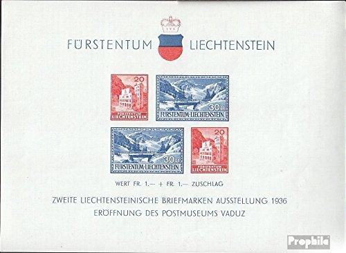 Prophila Collection Liechtenstein Blocco 2 (Completa Edizione) 1936 Esposizione di francobolli (Francobolli per i Collezionisti)