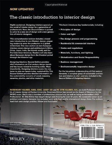 Designing Interiors Rosemary Kilmer W Otie 9781118024645 Books