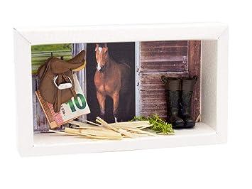 Zauberdeko Geldgeschenk Verpackung Reiten Pferd Pferdestall Stall