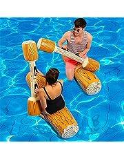 Hilif 2 stuks opblaasbaar speelgoed voor volwassenen, zwembadfeest, watersport, speel-blokken om speelgoed te zwemmen