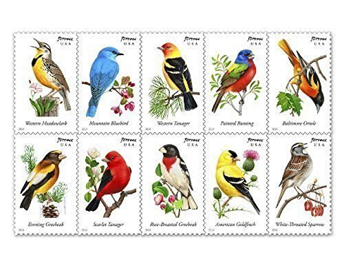 USPS Songbirds Forever Stamps - Booklet of 20 Postage Stamps