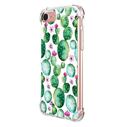 21ba947a9b7 Pacyer iPhone 7/7 plus Funda Cristal Claro Absorción TPU Parte Trasera  Anti-Estático