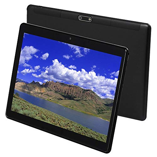 10 Inch Android 7.0 Tablet PC, 4GB RAM 64GB Storage Phablet Tablet Octa Core Unlocked 3G Cell Phone Tablets, Dual Sim Card Slots, WiFi, GPS, 1280x800 HD IPS Screen Display (Black) (Tablets 3g 4g)
