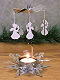 Spinning Angels Candle Holder with Star Base Scandinavian Style