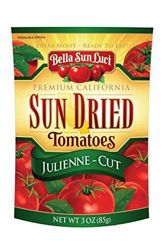 Bella Sun Luci Julienne-Cut Sun Dried Tomatoes, 3 oz (Bella Sun Luci Sun Dried Julienne Cut Tomatoes)