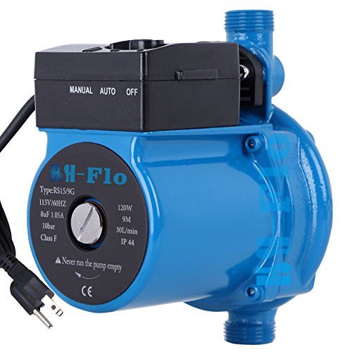 HSH-Flo 3/4'' NPT 110V/120Vac 29Ft Head Circulator Pump Auto Hot Water Circulation (Hot Water Pump)