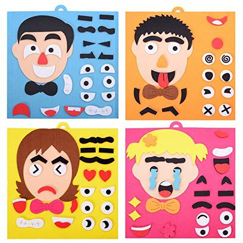 4pcs/lot Super Emotion Change Puzzle Toys Expression Changing Puzzle Best Gift for Children Changable Face Puzzles for Children