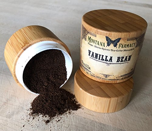 Vanilla Bean Powder in bamboo canister by Montana Farmacy