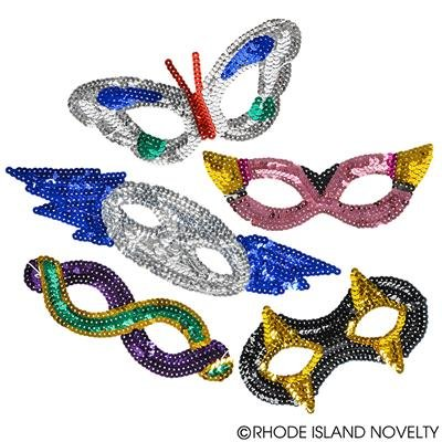 - RIN001 12PC, ASSORTED SEQUIN MASKS