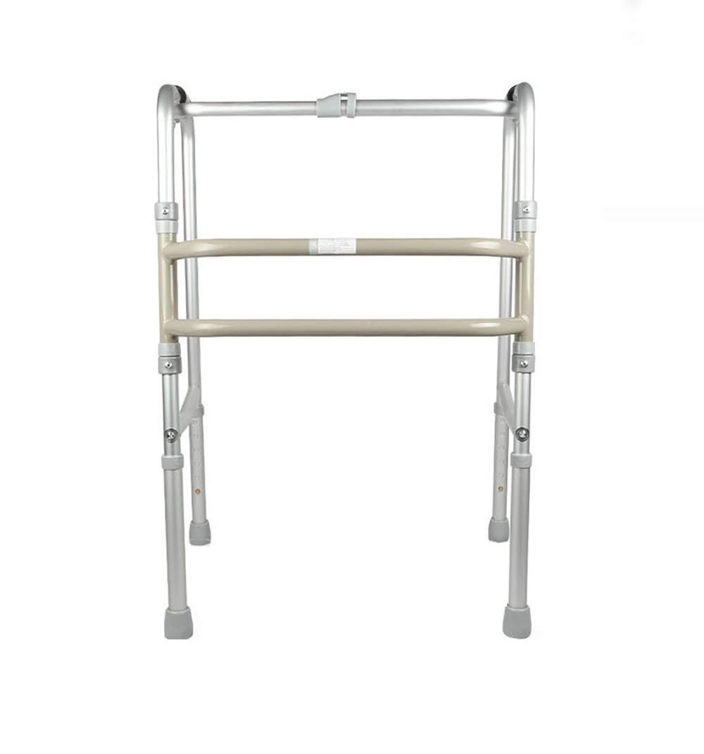 Portable Aluminum Folding Walker, 6 Positions Adjustable, Silver