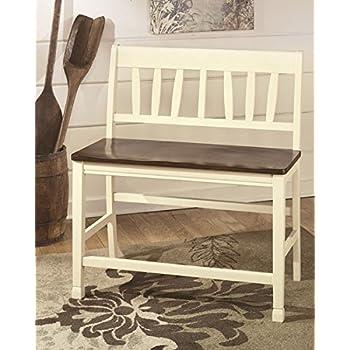 Ashley Furniture Signature Design - Whitesburg Double Barstool Set - Counter Height - Set of 2  sc 1 st  Amazon.com & Amazon.com: Counter Bar Stool Bench Dining Wood Wide Saddle ... islam-shia.org