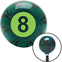 American Shifter Company ASCSNX1581809 Green 8 Ball Green Flame Metal Flake Shift Knob with M16 x 1.5 Insert 9 inch 428