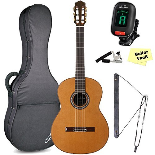 Cordoba C9 CD/MH Acoustic Nylon String Classical Guitar Bundle With Polyfoam Case