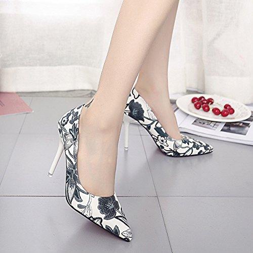 Une De Femmes Mode Des Femme 37 Talons Avec Conseils Et Hauts Chaussures Noir Romantique La Les lgant wXCOqx