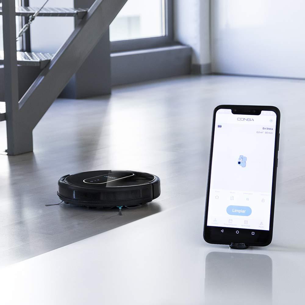 Cepillo para Mascotas Tecnolog/ía iTech SmartGyro Eye 2700 Pa Aspira Friega y Pasa la Mopa Alexa y Google Home Cecotec Robot Aspirador Conga Serie 1690 Pro App con Mapa Barre